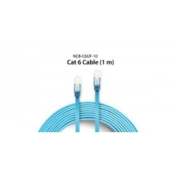 D-Link NCB-C6UF-10 Cable Cat6 UTP Flat Patch Cord Gigabit Speed 1000 Mbps  1 Meter