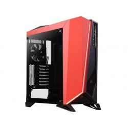Corsair CC-9011120-WW Carbide Series SPEC-OMEGA Tempered Glass Mid-Tower ATX Gaming Case-Black/Red