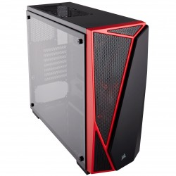 Corsair CC-9011117-WW Carbide Series SPEC-04 Tempered Glass Mid-Tower Gaming Case-Black/Red