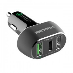 Prolink PCC34201 42W 3-Port Car Charger with IntelliSense