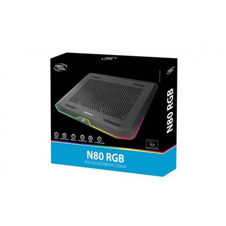 Deepcool N80 RGB Gaming Cooling Pad with RGB LED Lightning - Black