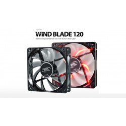 Deepcool Wind Blade 120 Hydro Bearing Fan with Red LED - Black