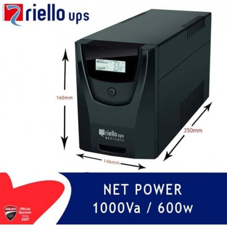 Riello Net Power Ups 1000 Va / 600 Watt