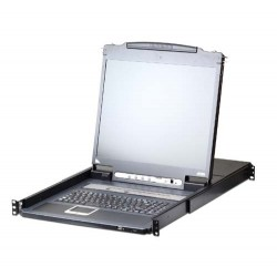 Aten CL5716iN 19 inch 16-Port PS/2-USB VGA LCD KVM over IP Switch with Daisy-Chain Port and USB Peripheral Support