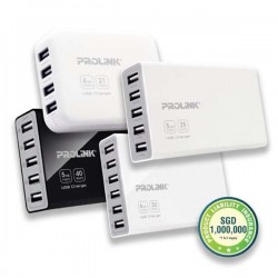 PROLiNK PCU6101 6-Port USB Charger with Intellisense