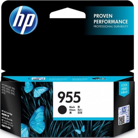 HP 955 Black Original Ink Cartridge (L0S60AA)