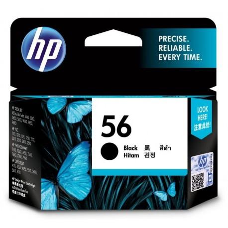HP 56 Black Original Ink Cartridge (C6656AA)