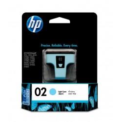 HP 02 Light Cyan Original Ink Cartridge (C8774WA)