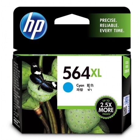 HP 564XL High Yield Cyan Original Ink Cartridge (CB323WA)