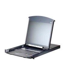 Aten KL1108VN 19 inch LCD KVM over IP Switch 1 local or 1 remote user access