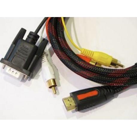 KABEL HDMI TO VGA dan AUDIO 2 meter