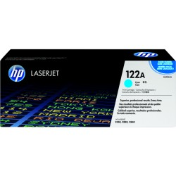 HP 122A Cyan Original LaserJet Toner Cartridge (Q3961A)