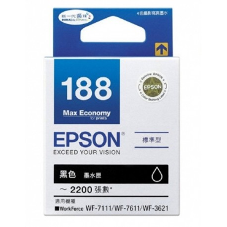 Epson C13T188190 Cartridge Black For WF7111/7611 2200 Pages