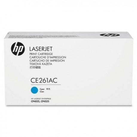 HP CE261AC Cyan Contract Original LaserJet Toner Cartridge
