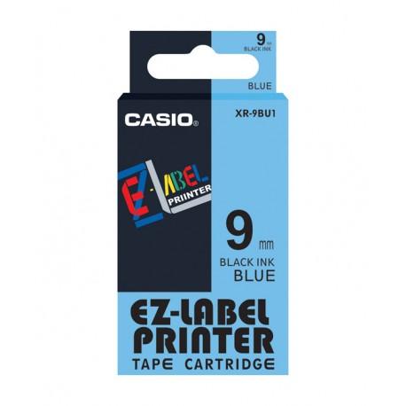Casio XR-9BU1 Label Tape Black On Blue 9mm