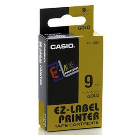 Casio XR-9GD1 Label Tape Black On Gold 9mm