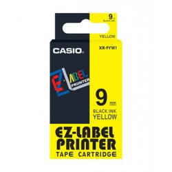 Casio XR-9YW1 Label Tape Black On Yellow 9mm