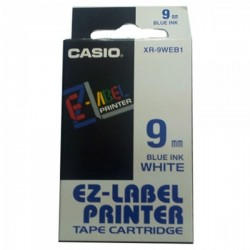 Casio XR-9WEB1 Label Tape Blue On White 9mm