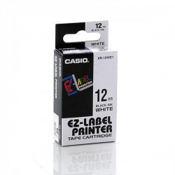 Casio XR-12WE1 Label Tape Black On White 12mm