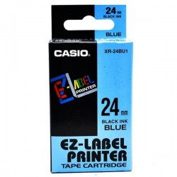 Casio XR-24BU1 Label Tape Black On Blue 24mm