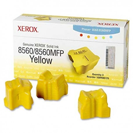 Compatible Xerox Phaser 8560 3 Yellow 108R00725 Solid Ink Color Sticks