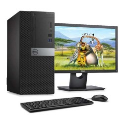 Dell OptiPlex 7060MT i7-8700 8GB 1TB VGA AMD Radeon RX 550 4GB Windows 10 Pro 21,5 Inch PC Desktop