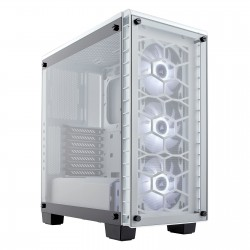 Corsair Crystal Series 460X RGB Compact ATX Mid-Tower Case -White