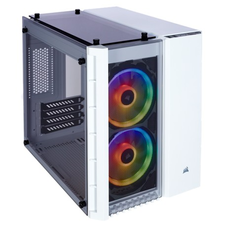 Corsair Crystal Series 280X RGB Tempered Glass Micro ATX Case White (CC-9011137-WW / White)