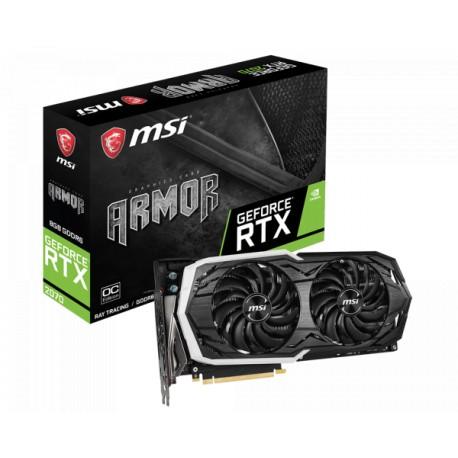 MSI GeForce RTX 2070 8GB DDR6 256 Bit Armor Graphics Card