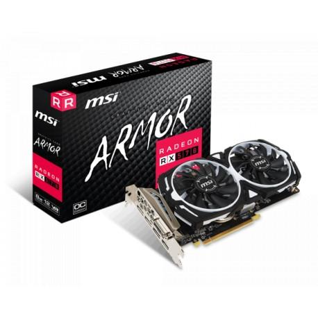 MSI Radeon RX 570 8GB DDR5 256Bit Armor 8G OC Graphics Card