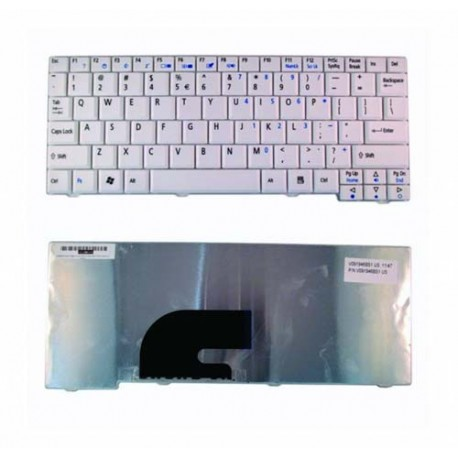 Acer Aspire One ZG5 ZA8 A110 D150 D250 531 D250 Putih Keyboard Laptop