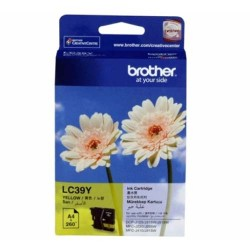 Brother LC-39Y Tinta Catridge DCP-J125 DCP-J140W MFC-J220 MFC-J410 Yellow