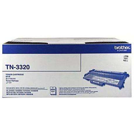 Brother TN-3320 Toner Cartridge Black For HL-5440D HL-5450DN HL-5470DW HL-6180DW DCP-8155DN MFC-8510DN MFC-8910DW