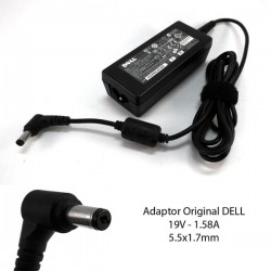 Adaptor DELL 19V 1.58A (5.5x1.7mm) Original