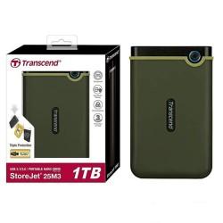 Transcend TS1TSJ25M3G 1TB Storejet 25M3 Hardisk External USB 3.0  Military Green
