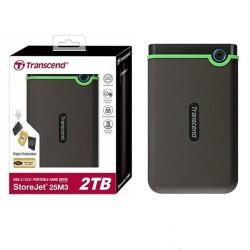 Transcend TS2TSJ25M3S 2TB Storejet 25M3 Hardisk External USB 3.0 Iron Black