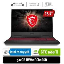 "MSI Notebook GL65 10SDR 9S7-16U722-217 i7-10750H 8GB 512GB GTX1660Ti 6GB 15.6"" FHD Win10Home"