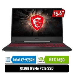 "MSI Notebook GL65 9SC 9S7-16U412-028 i7-9750H 8GB 512GB GTX1650 4GB 15.6"" FHD Win10Home"