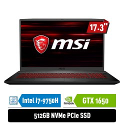 "MSI Notebook GF75 9SC 9S7-17F212-490 i7-9750H 8GB 512GB GTX1650 4GB 17.3"" FHD Win10Home"