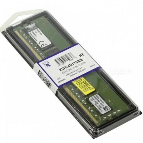 Kingston 8GB 2400MHz DDR4 Longdimm Non-ECC CL17 DIMM 1Rx8 (KVR24N17S8/8)