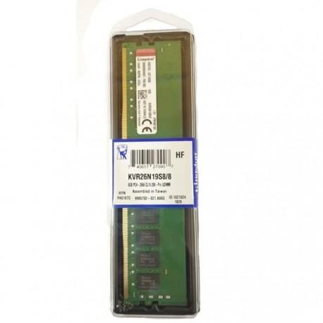 Kingston 8GB 1Rx8 1G x 64-Bit PC4-2666 Longdimm Non-ECC CL19 288-Pin DIMM (KVR26N19S8/8)