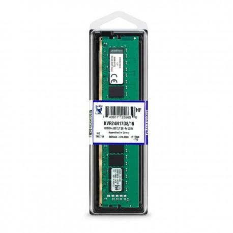 Kingston 16GB 2Rx8 2G x 64-Bit PC4-2400 Longdimm Non-ECC CL17 288-Pin DIMM (KVR24N17D8/16)