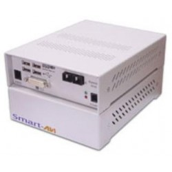 SmartAVI DVX3000 Extender extends any DVI-D and USB signals up to 1200 ft with multimode fiber