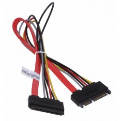 22 pin male to female power and data sata adapter custom cable