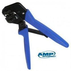 AMP 0-0790163-1 Crimping Tool Cat 6 Plugs Hand Tool Kit