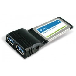 SUNIX 2 Port USB 3.0 Express Card-ECU2300