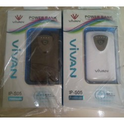 Powerbank Vivan ips05 7000mAh Dual Output