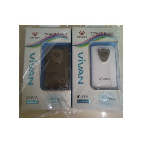 Powerbank Vivan ips05 7000mAh Dual Output