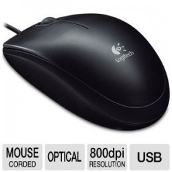 Logitech B100 Optical Mouse USB-Black