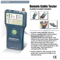 Goldtool TCT-1620 Cable Tester Punktal Rj45 Rj11 Usb Bnc